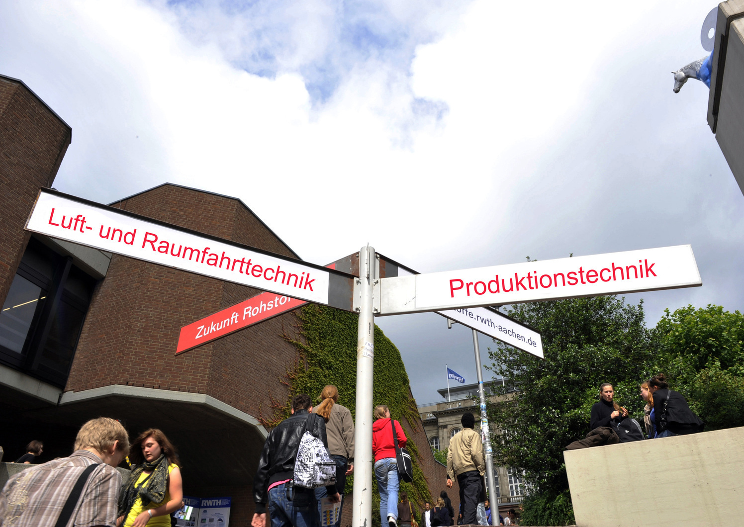 Signpost with different degree programs